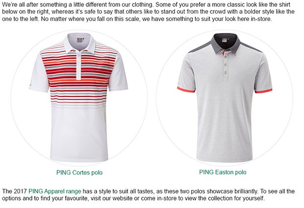 PING Apparel article